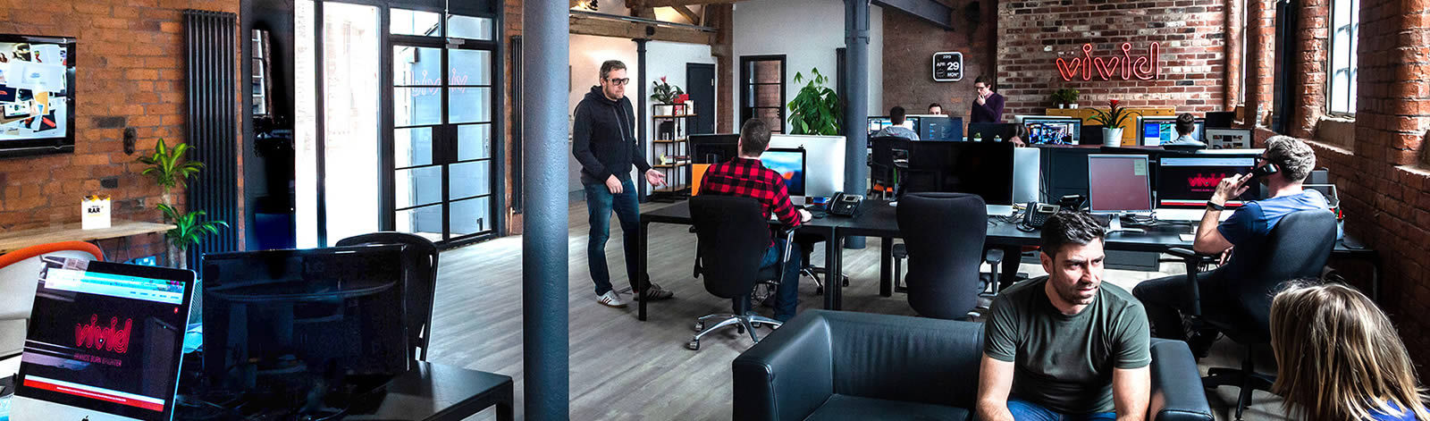 Inside the Vivid studio