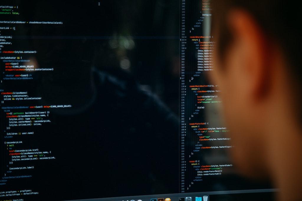 Someone coding