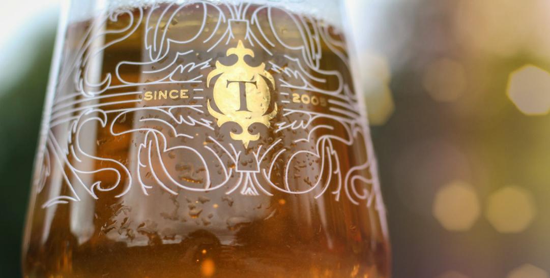 Thornbridge beer glass up close