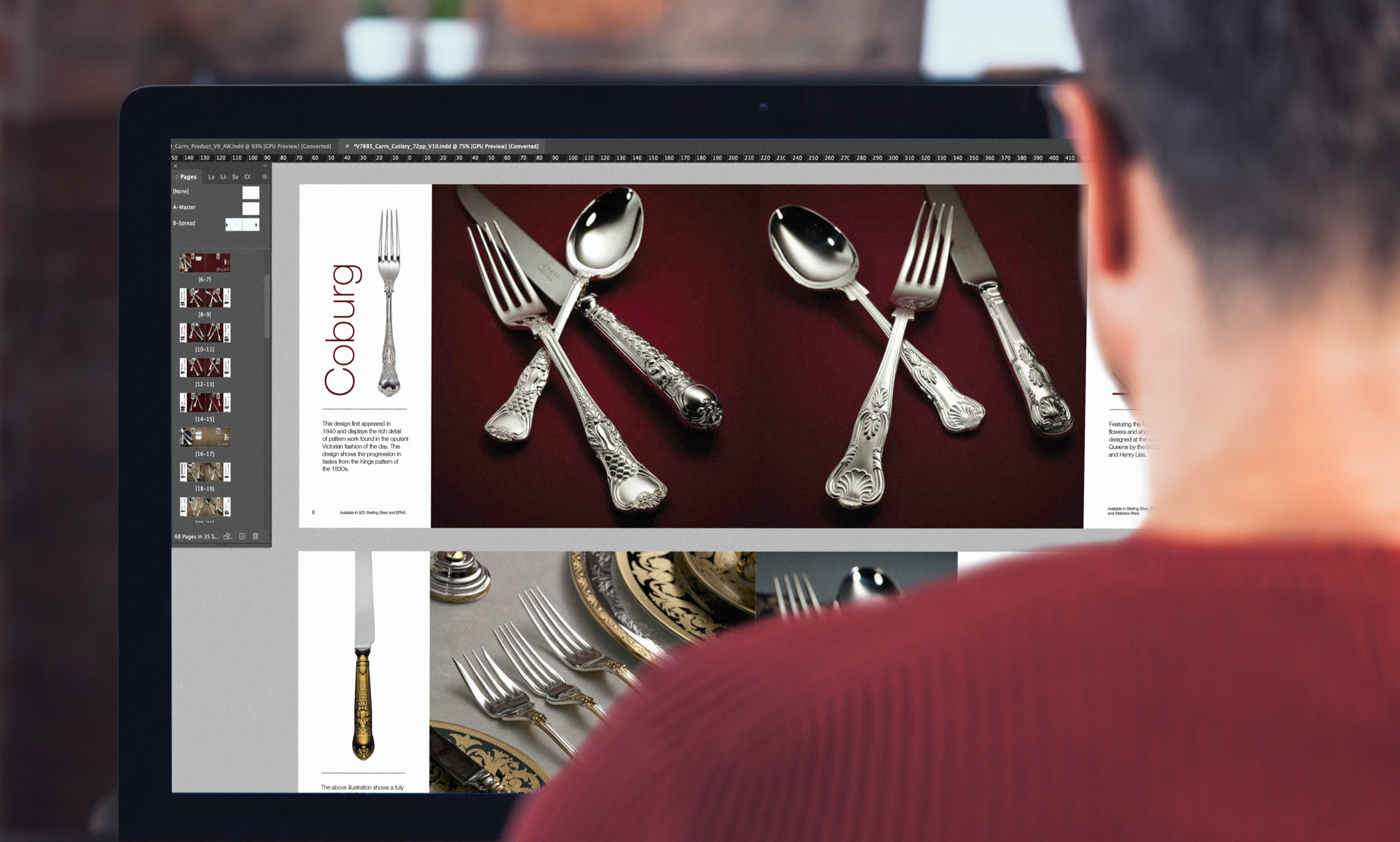Carrs Silver brochure being designed