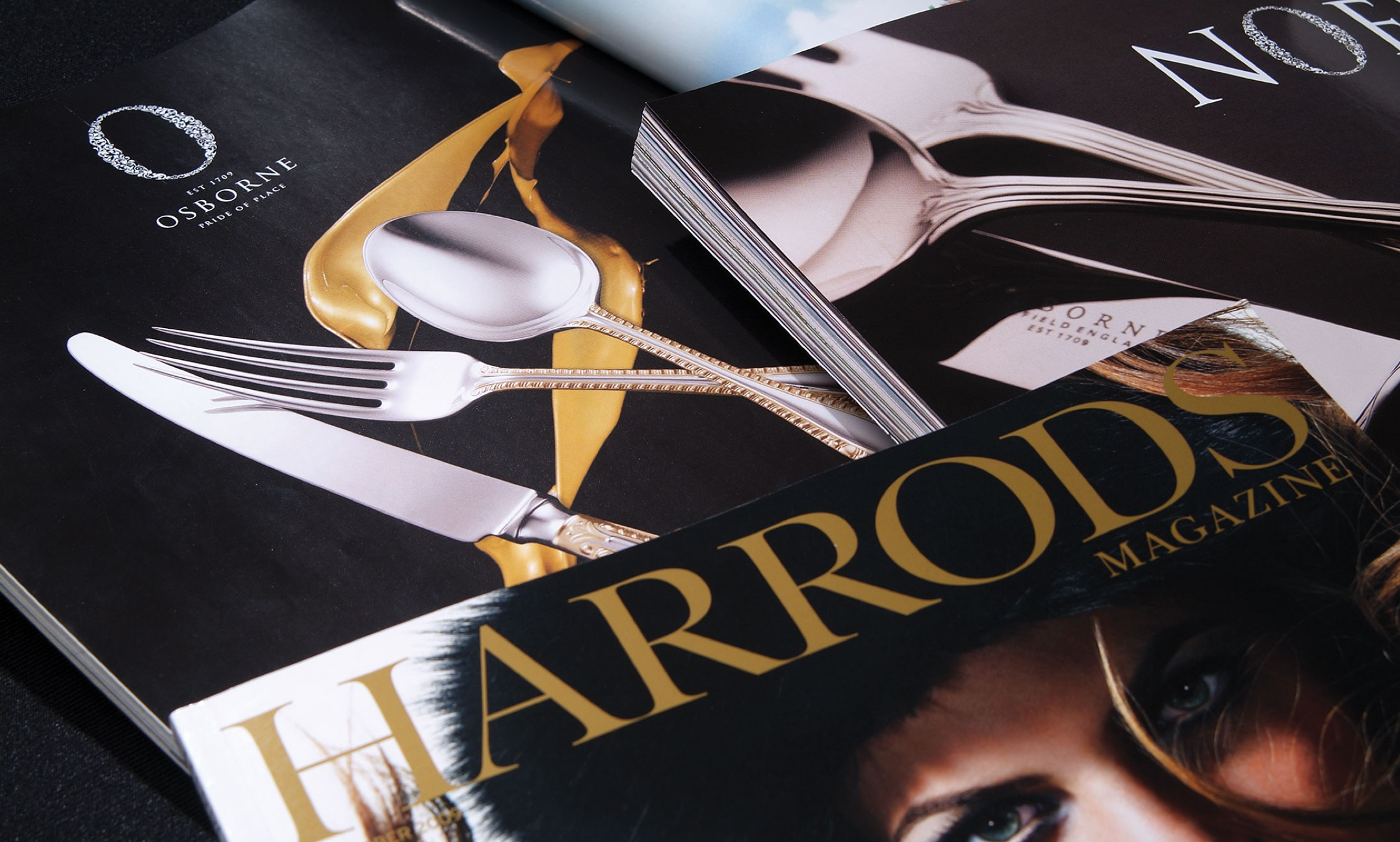 Carrs Silver adverts in Harrods brochure