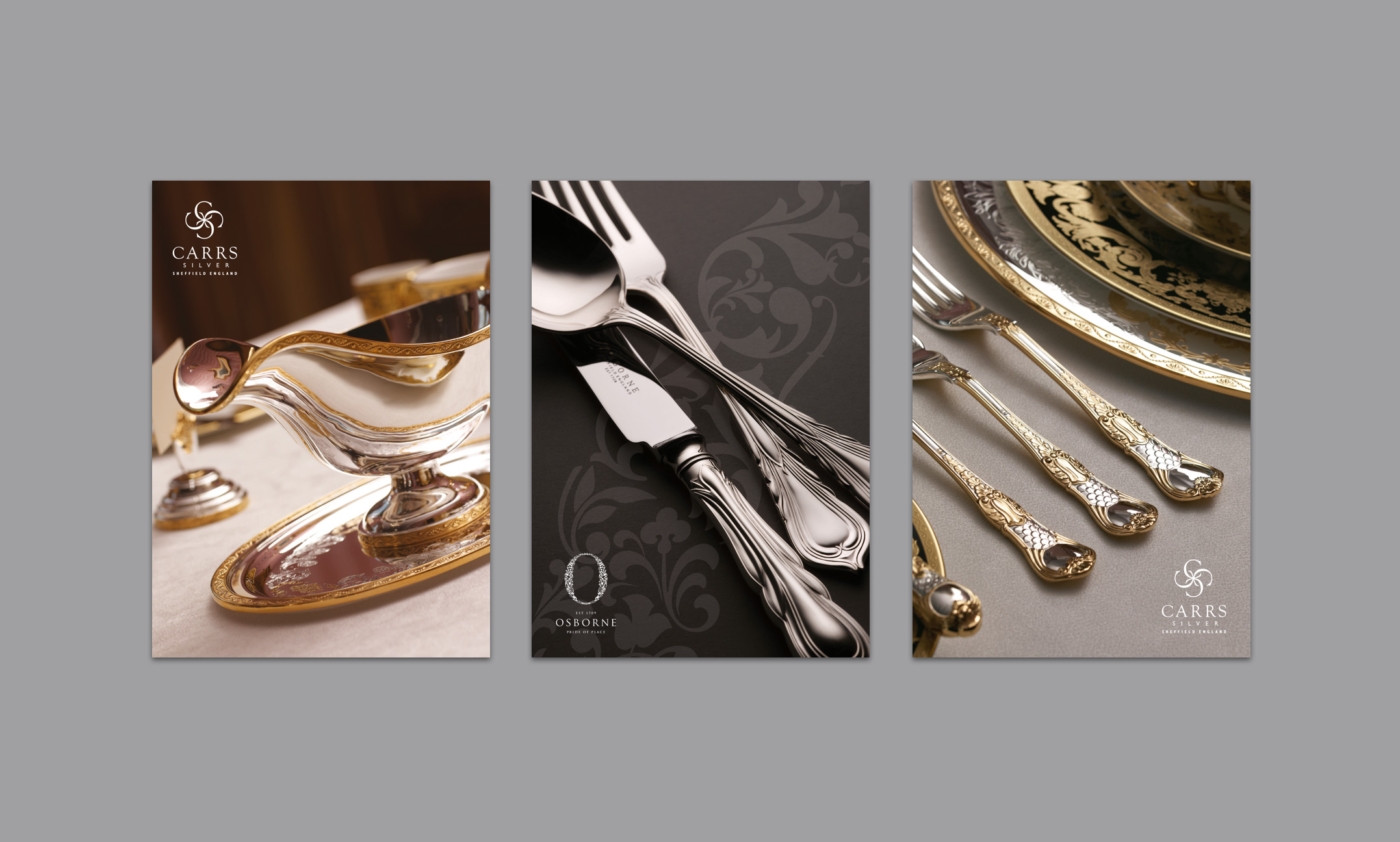 Carrs Silver triptage for Harrods brochure