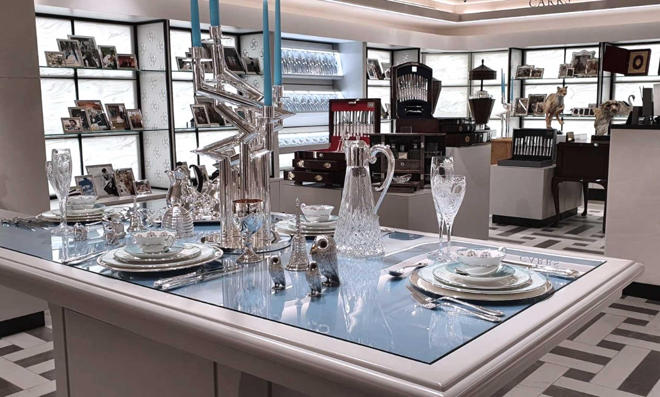 Carrs Silver showroom in Harrods, London