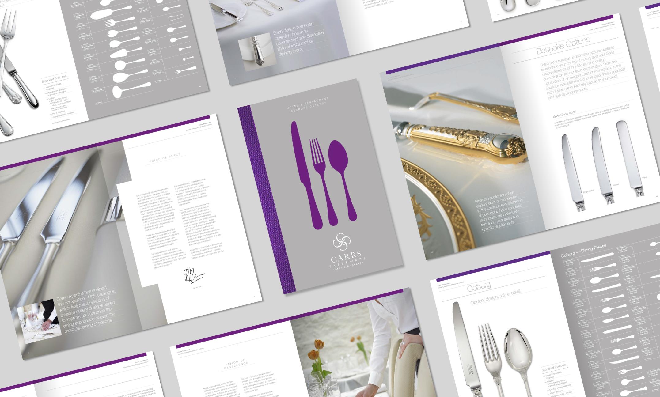 Carrs Silver brochures