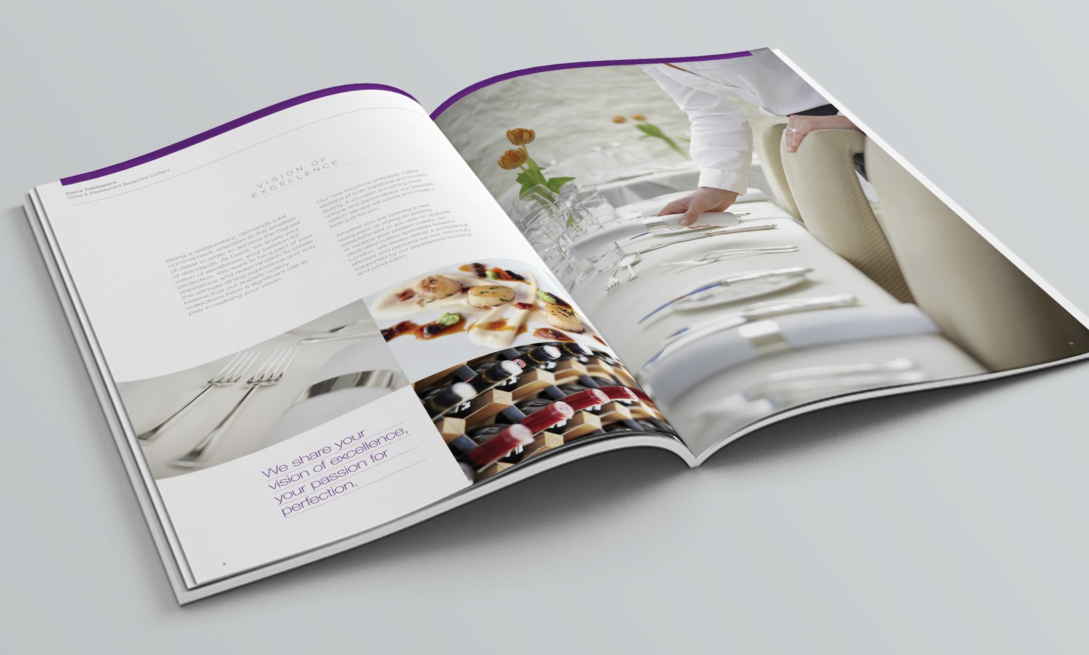 Carrs Silver brochure spread