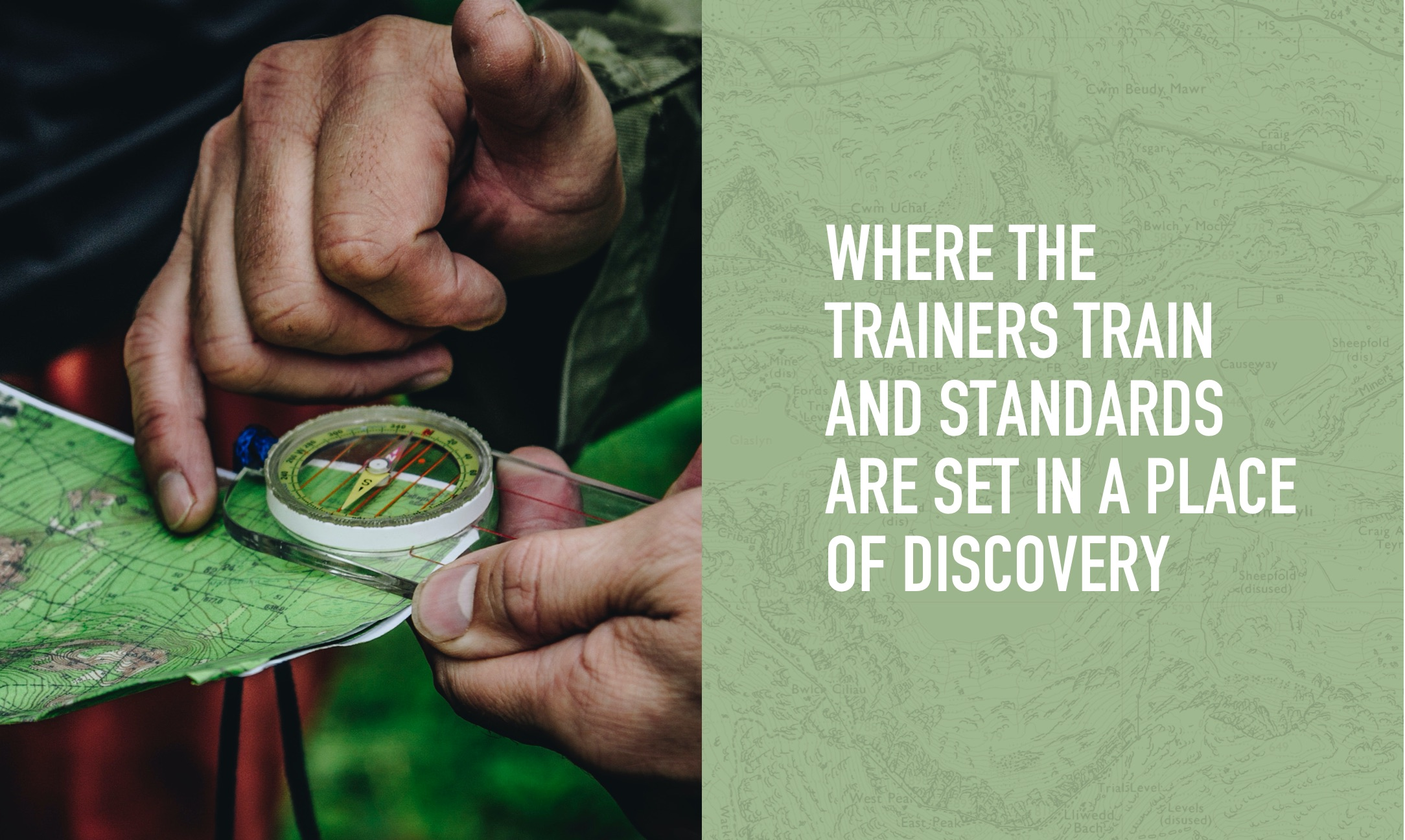 Where the trainers train and standards are set in a place of discovery
