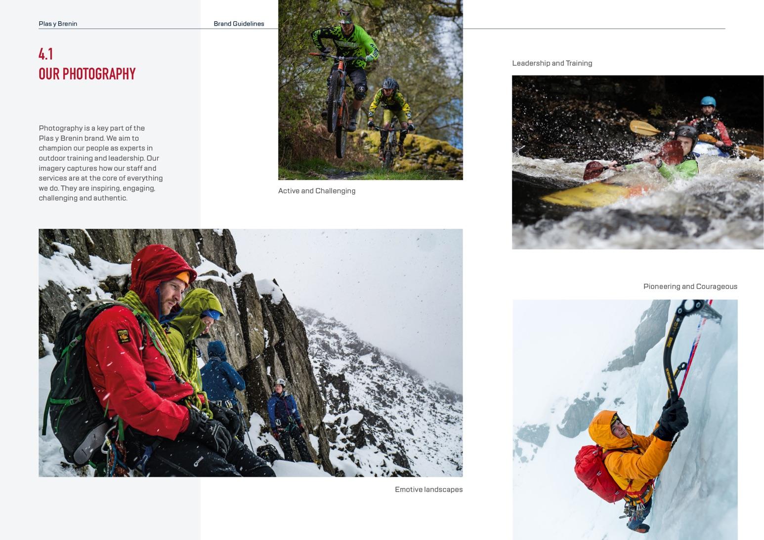 Plas Y Brenin (PYB) Brand Guidelines - Photography