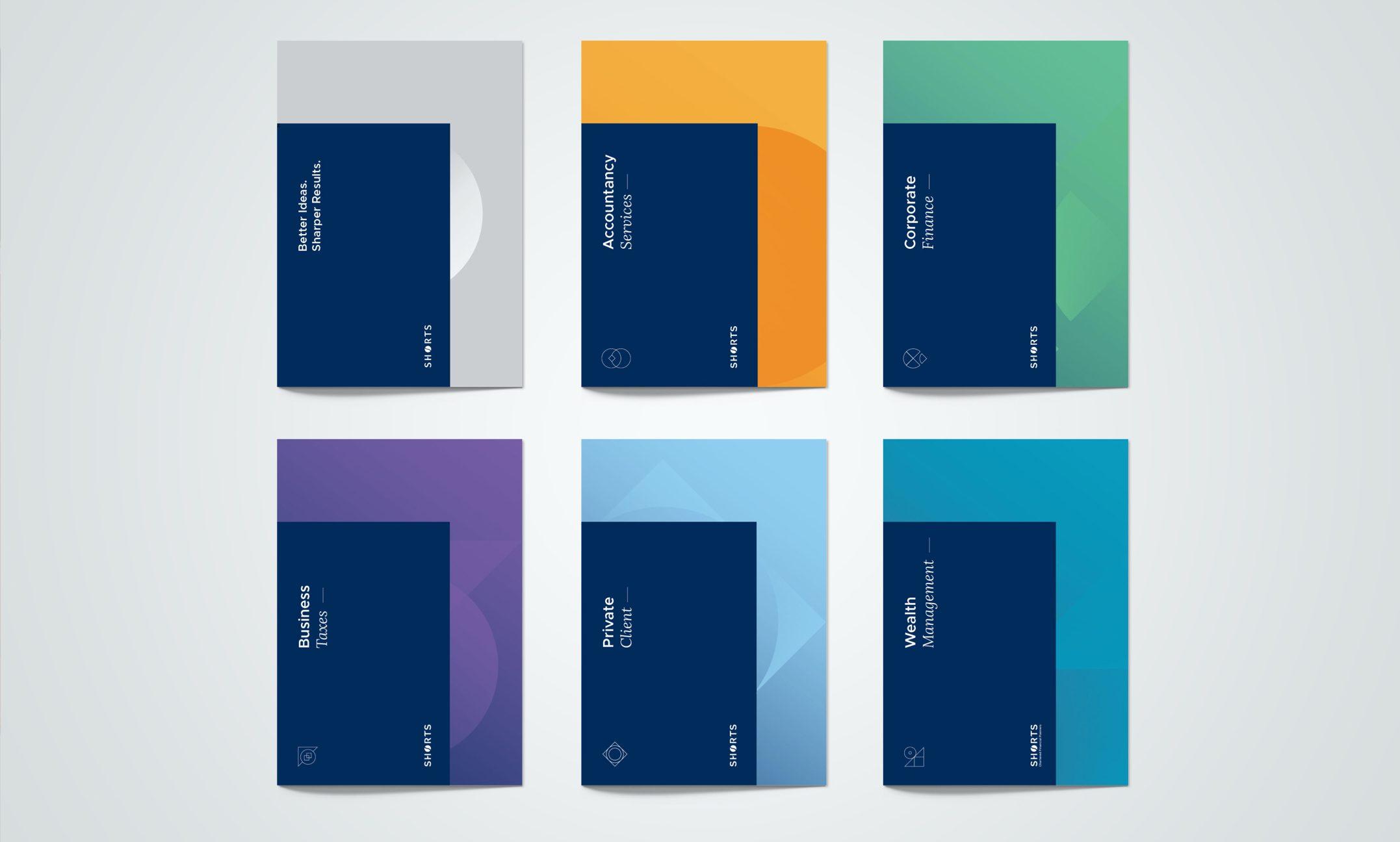 Shorts Radius brochure covers