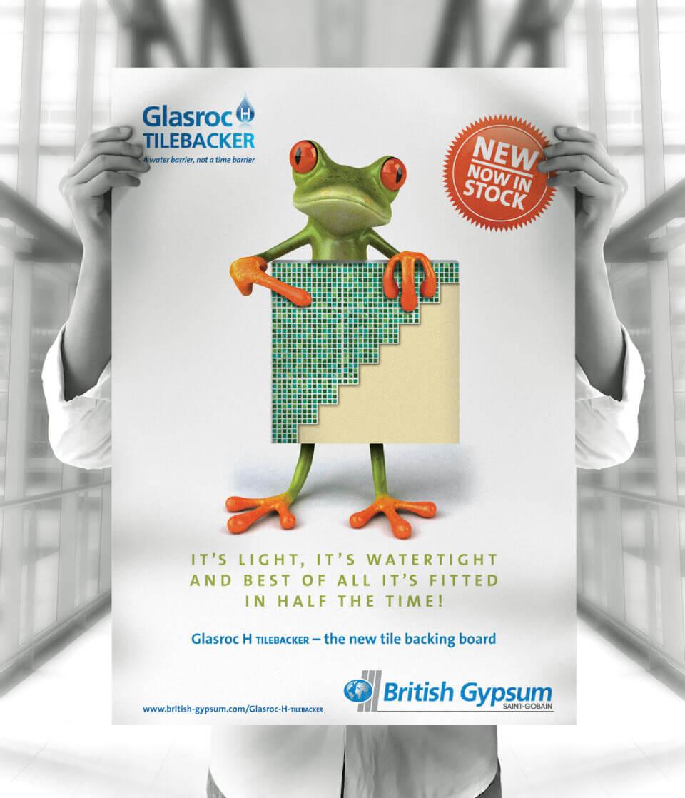 British Gipsum frog advert