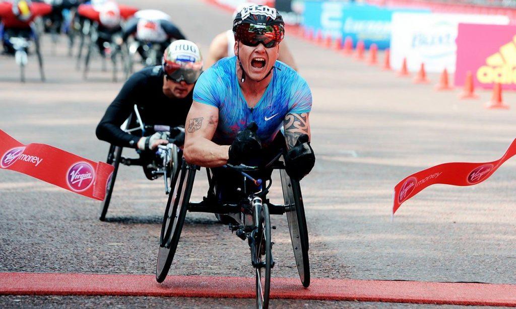 David Weir in London Marathon 2017 (by Mark Shearman)