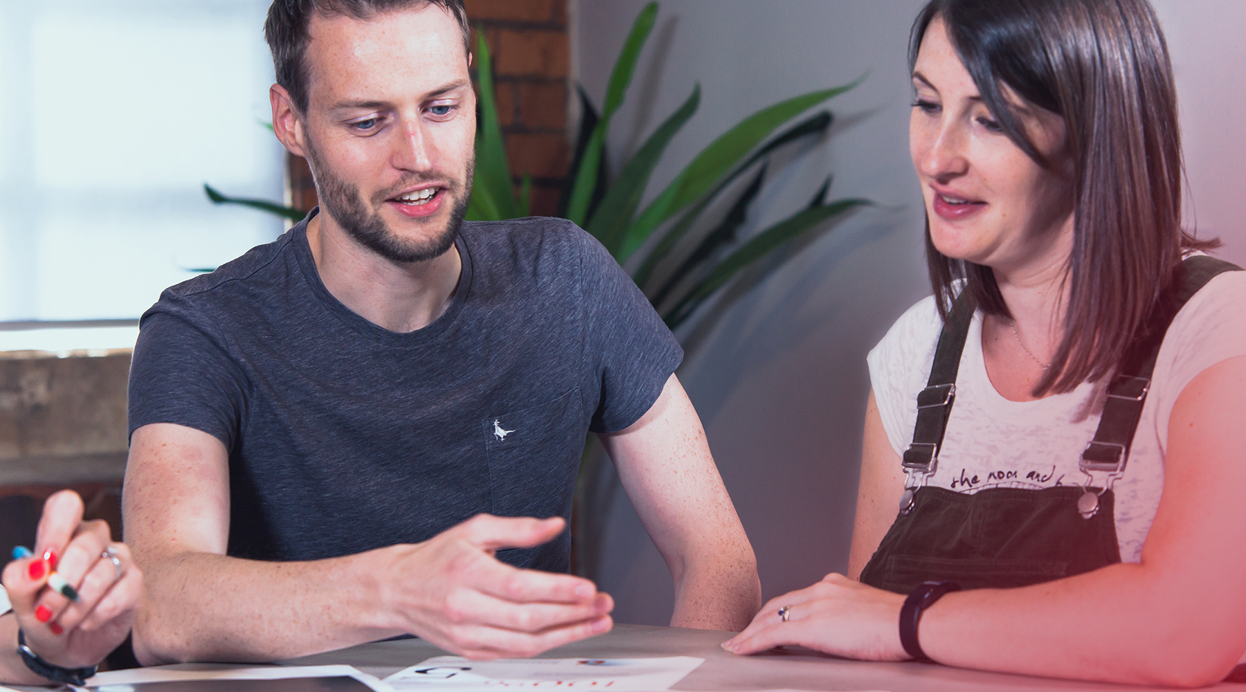 Lucas Tomlinson & Christina Horton agile meeting