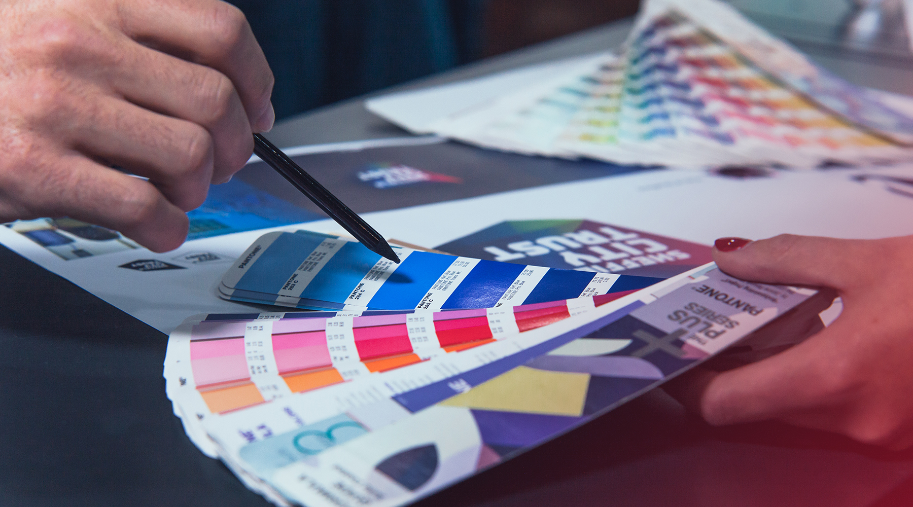 Discussing colour swatches