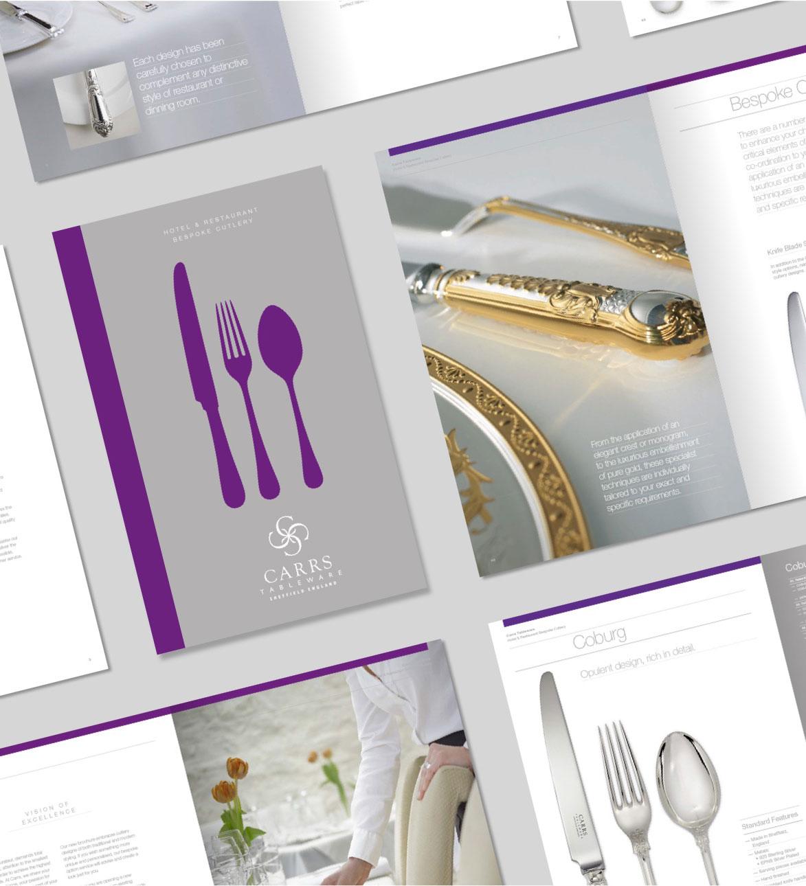 Carrs Silver brochure mockups